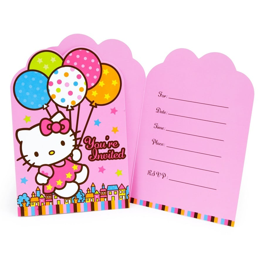 Hello Kitty Themed Birthday Invitations