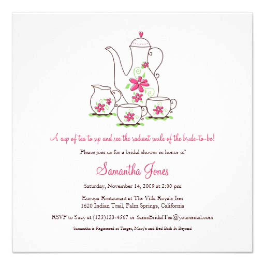 High tea invitation free for Tea party menu template