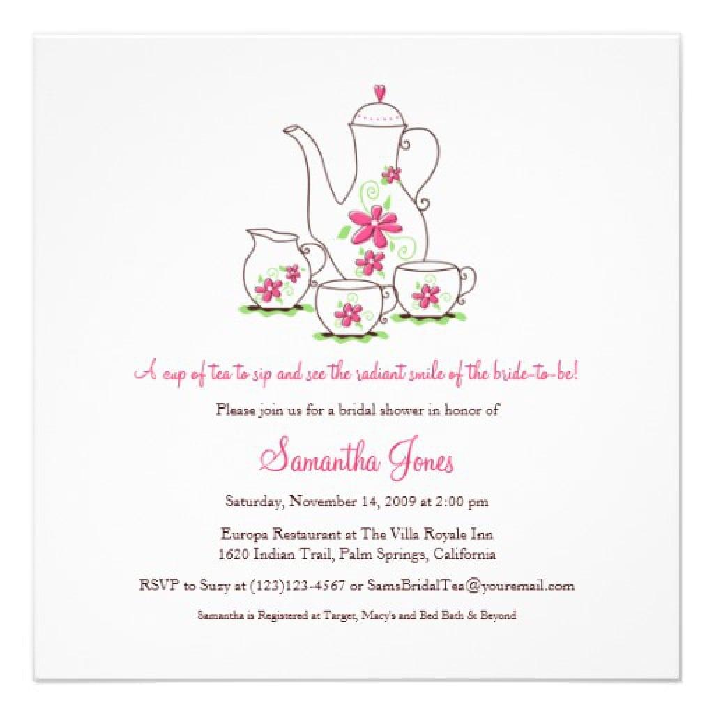 High Tea Invitation Free