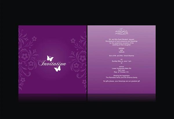 Hindu Marriage Invitation Card Design Free Download