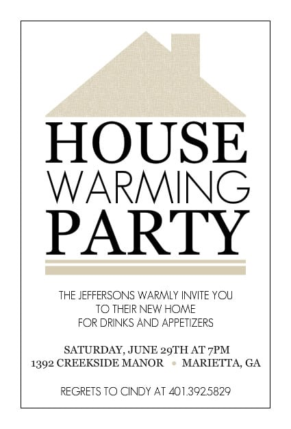house warming party invitation template free. Black Bedroom Furniture Sets. Home Design Ideas