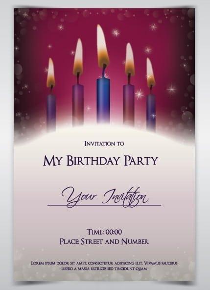 Invitation Birthday Card Template