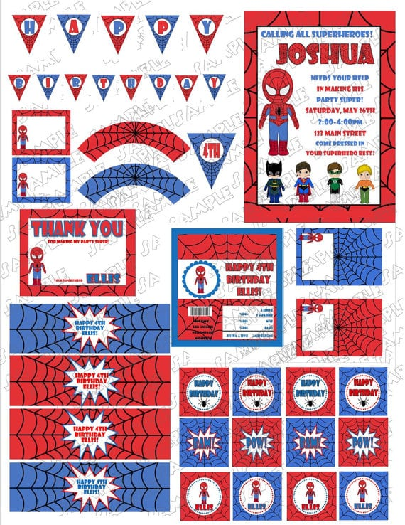 Invitation Card Design Birthday Party Spiderman