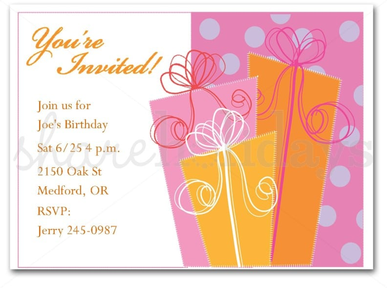 Invitation Cards For Birthday Party For Adults