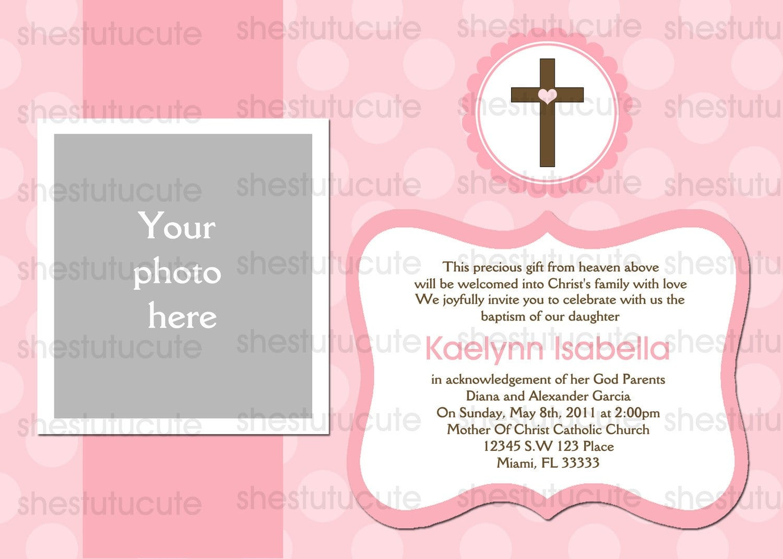 Invitation Cards For Christening Baptism