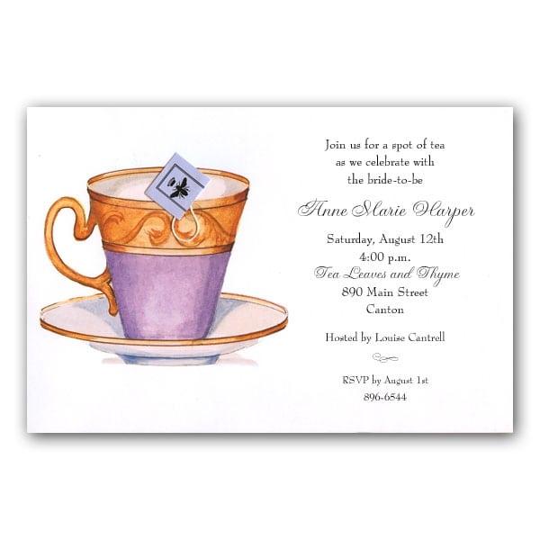 Invitation High Tea Template