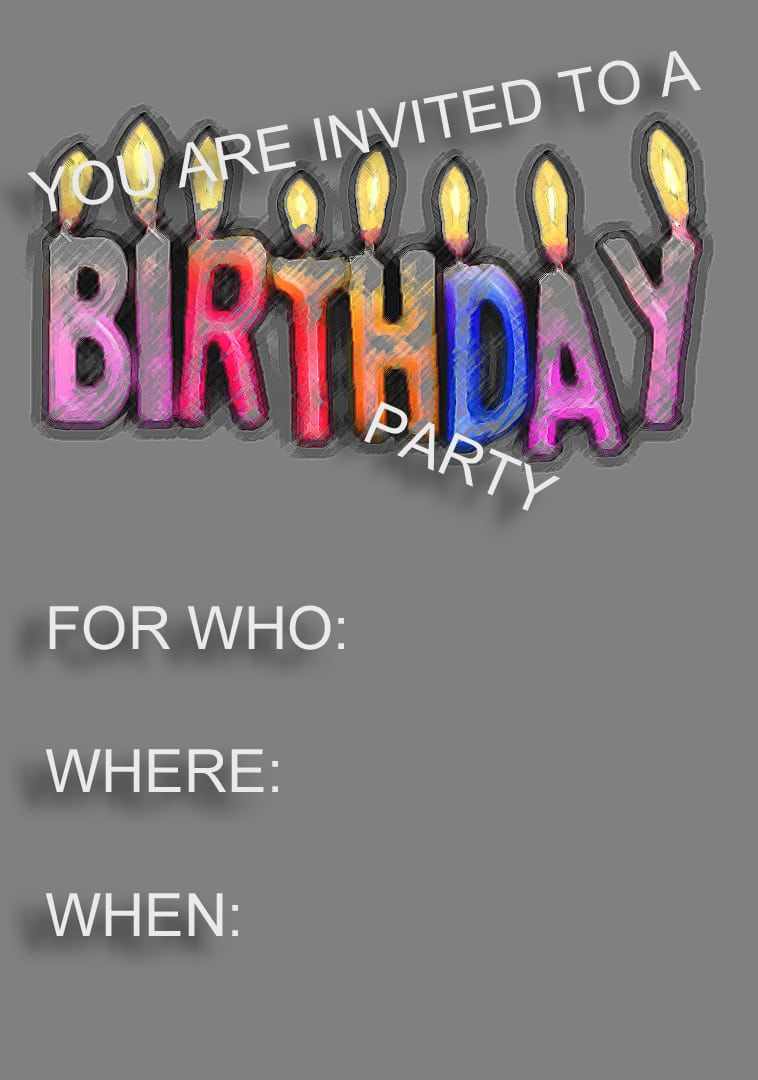 Invitation Kids Birthday Free Template