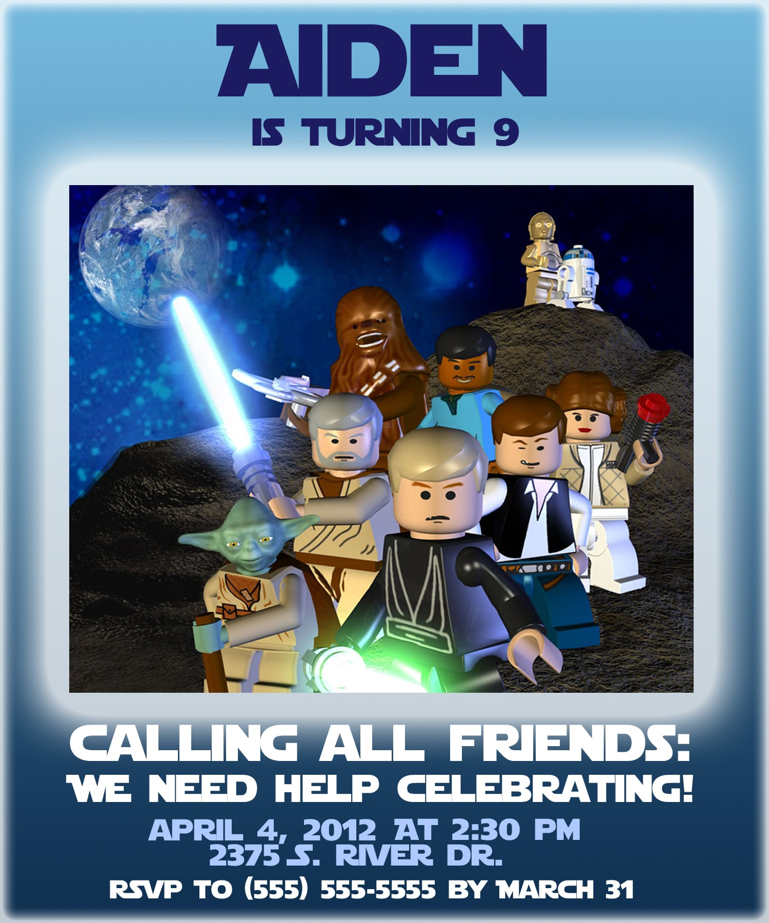 Invitation Lego Star Wars