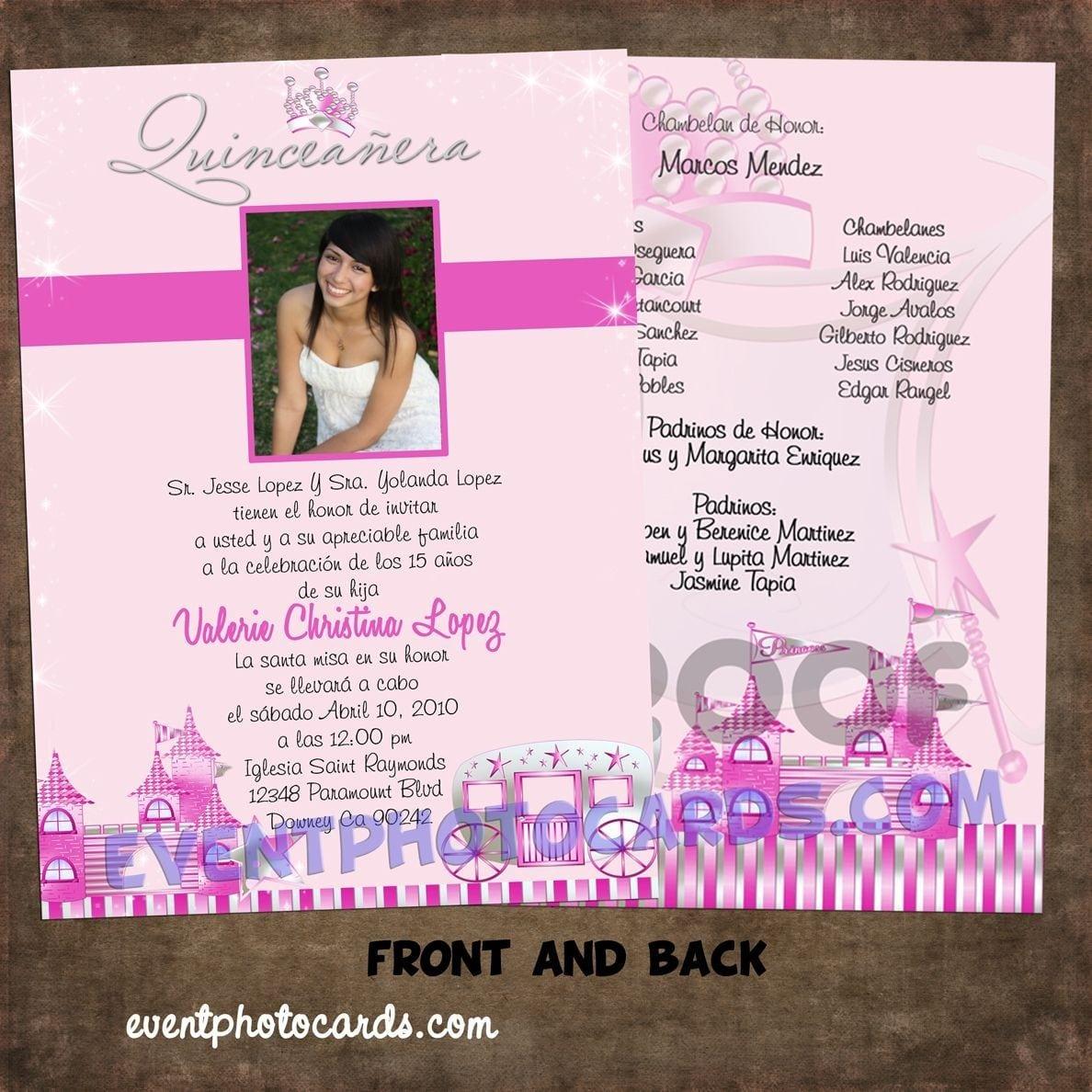 Invitation Samples For Quinceanera