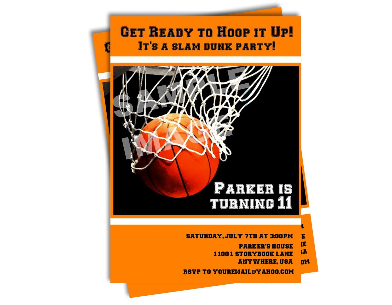Invitation Template Boys Basketball