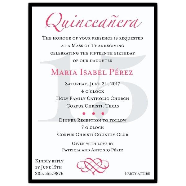 Invitation Template For Quinceanera