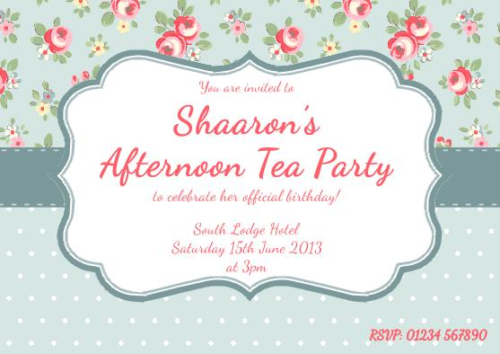 Invitation high tea template for Tea party menu template