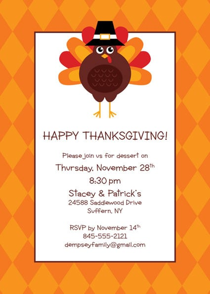 Invitation Your Thanksgiving Party
