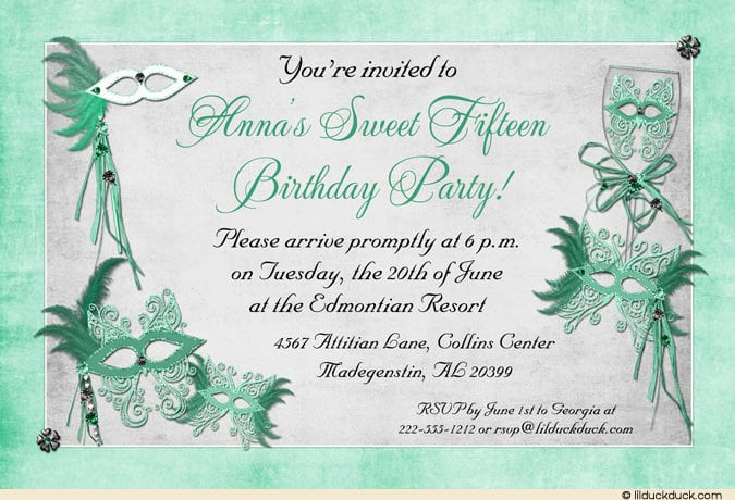 Invitations For 15 Birthday Party
