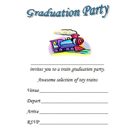 Kindergarten Invitation Free Template