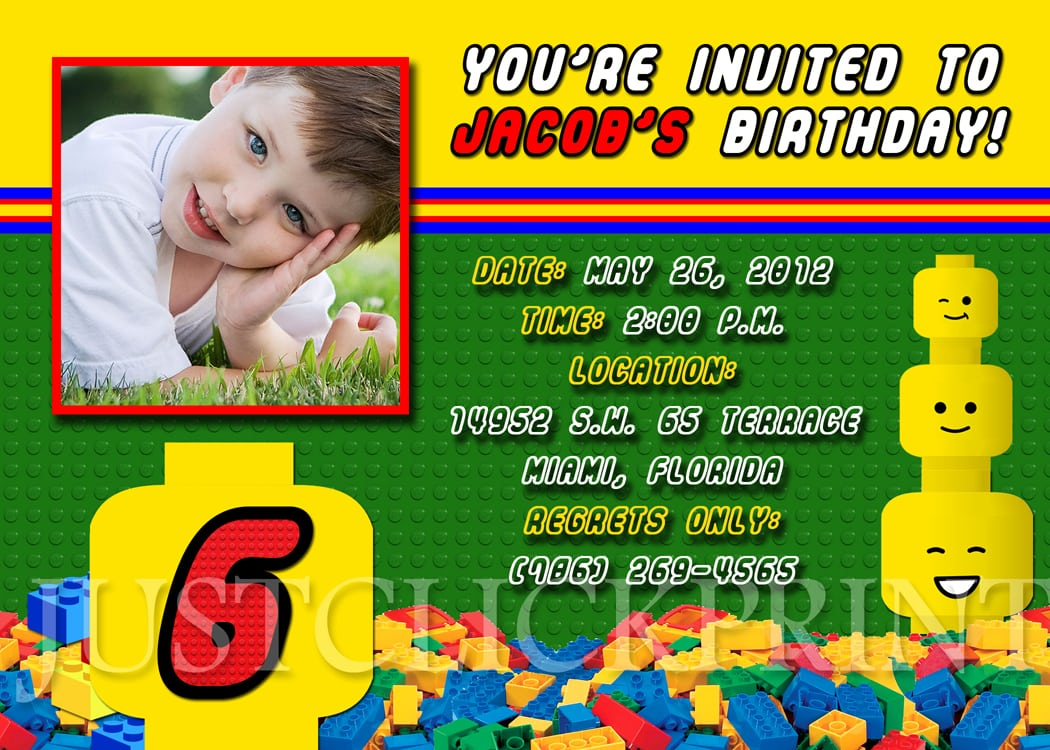 Lego Invitation Print