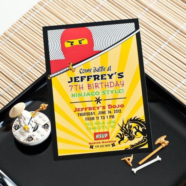 Lego Ninjago Invitation Free Printables