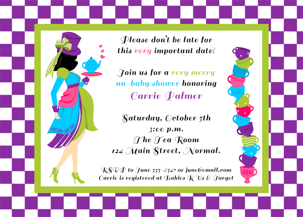 Mad Hatter Baby Shower Invitation