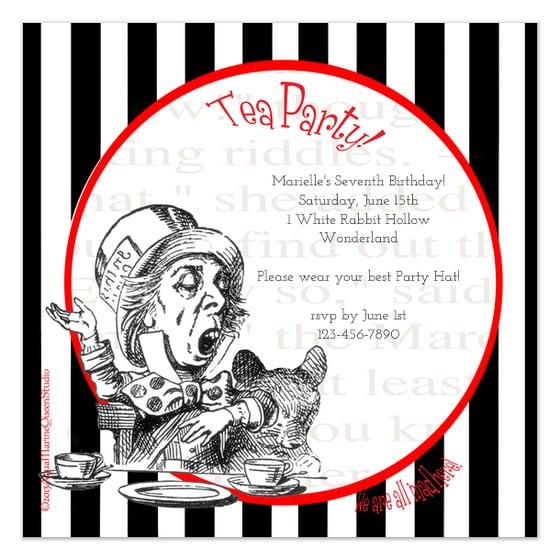 Mad Hatter Invitation Template Free