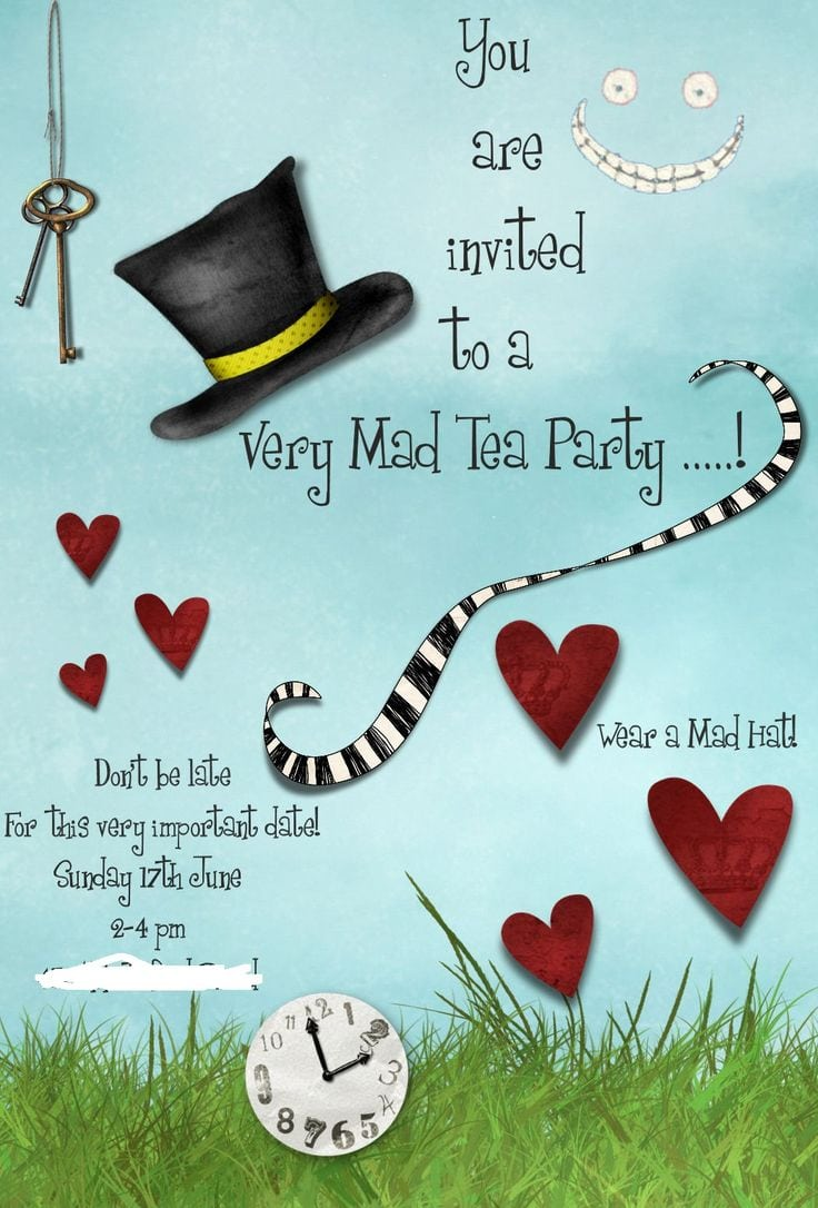 Mad Hatter Tea Party Invitation Template Free