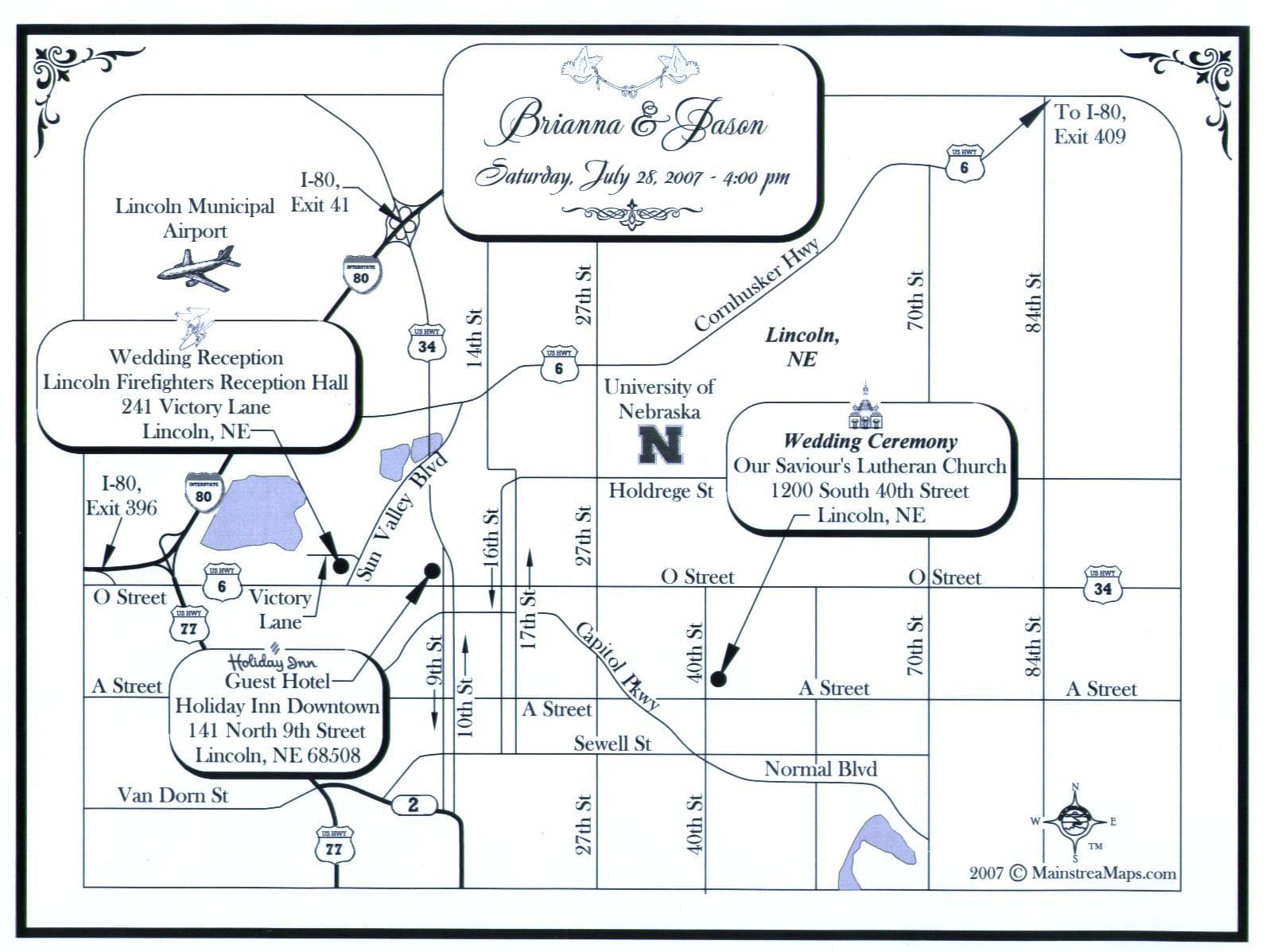 Maps For Invitation