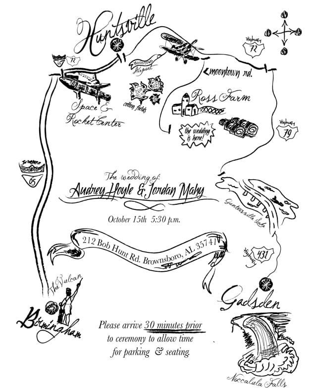 Maps For Wedding Invitations Free