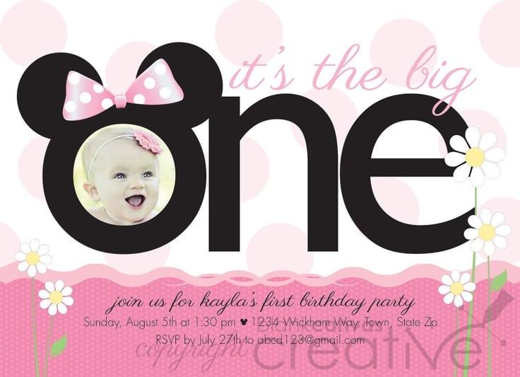 Mickey And Minnie Birthday Invitation Template