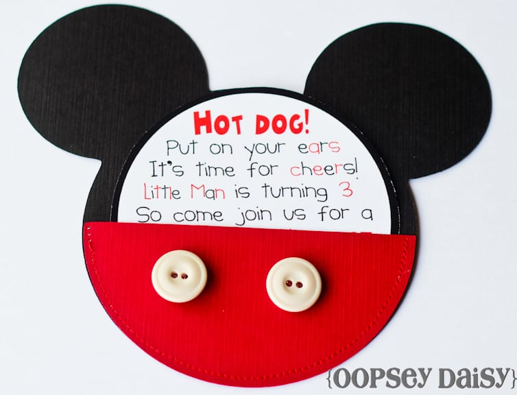Mickey And Minnie Mouse Invitation Wording