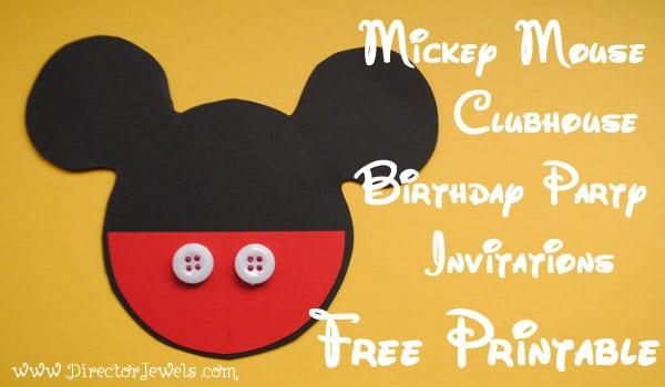 Mickey Mouse 1st Birthday Free Printable Invitations
