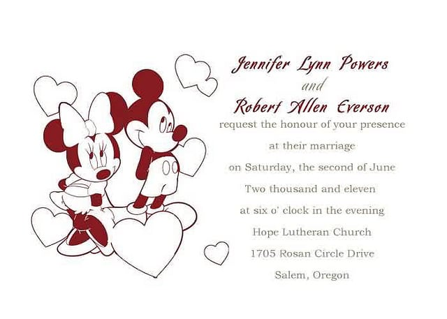 Mickey Mouse And Minnie Mouse Invitation Free Printables