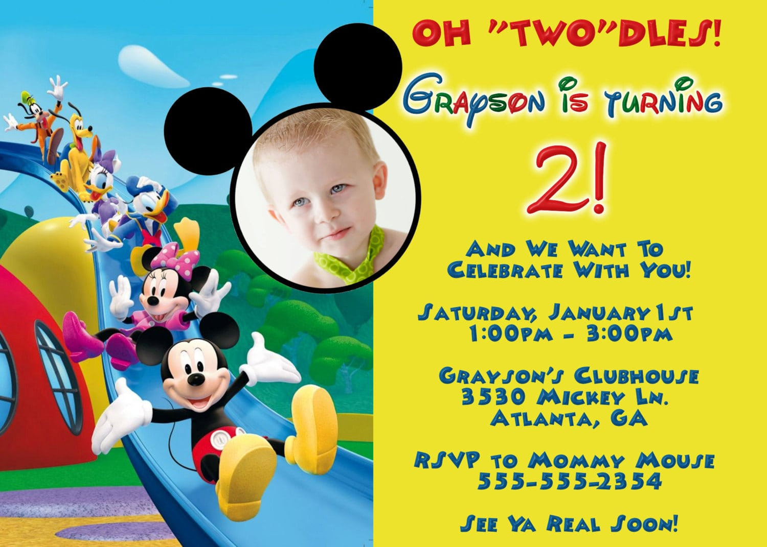 Mickey Mouse Clubhouse Invitations Party City