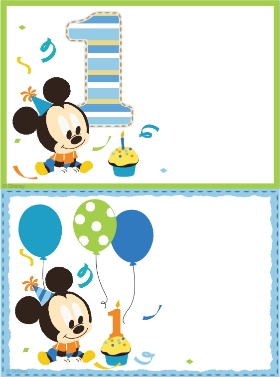 Mickey Mouse Invitation Printable Free