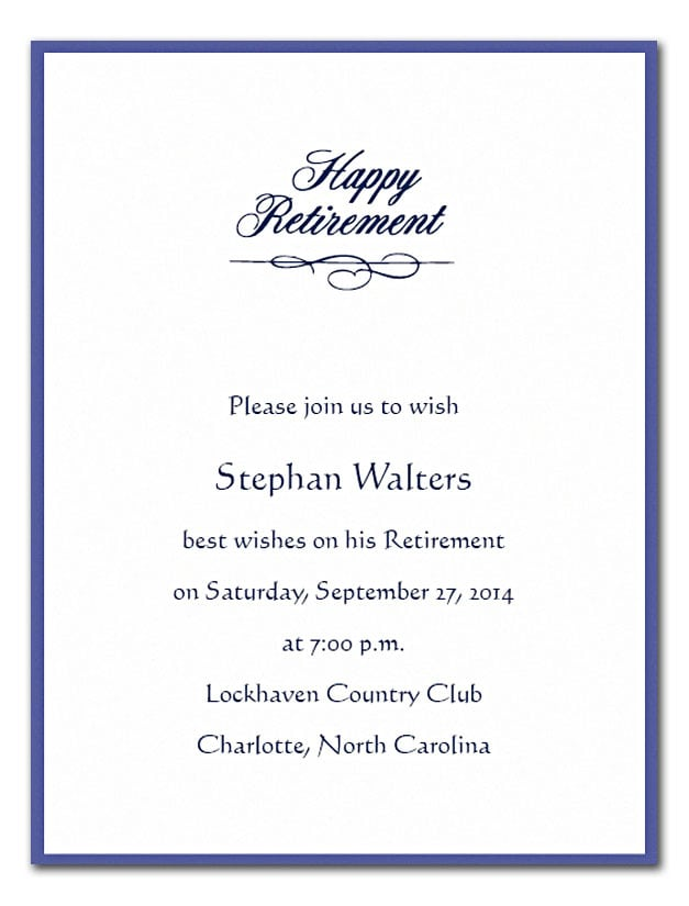Military retirement invitation flyer for Retirement announcement flyer template