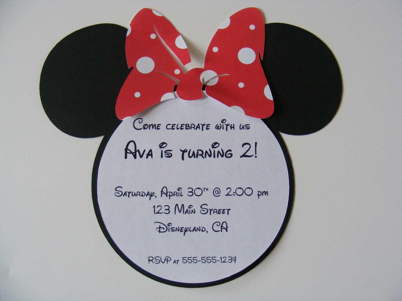 Minnie Mouse Invitation Ideas