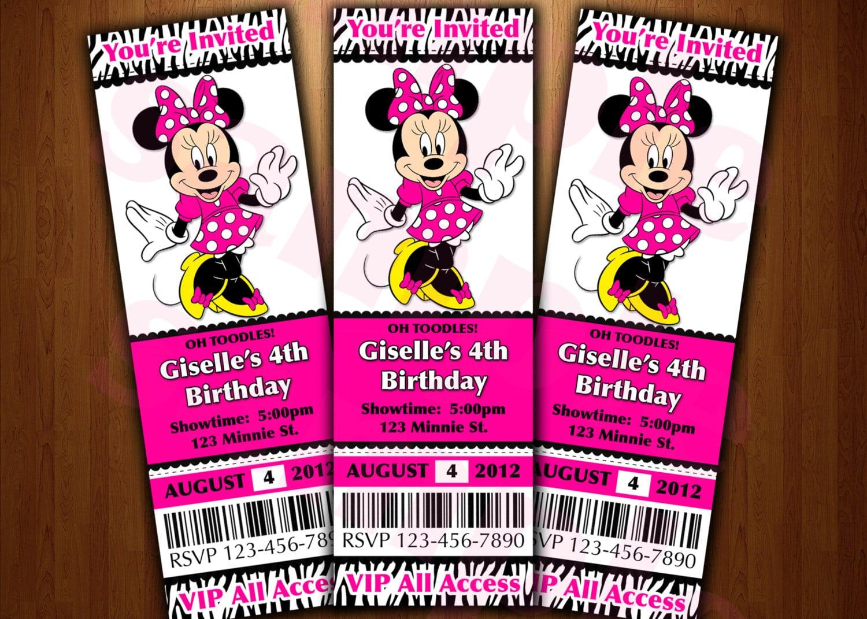 Minnie Mouse Invitation Printable