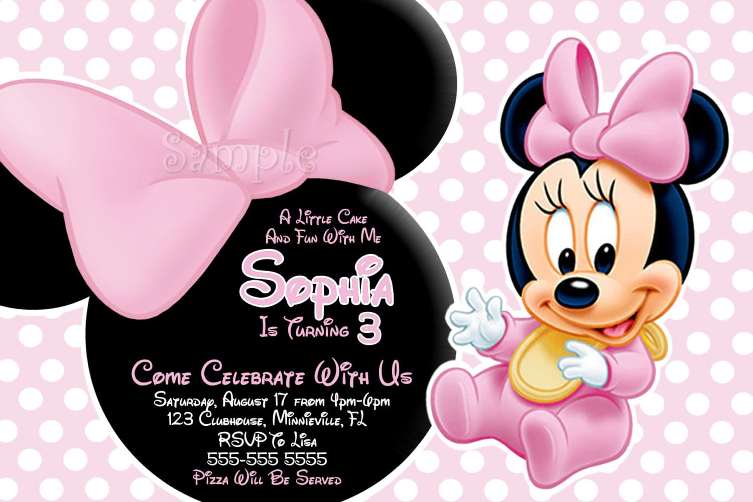 Minnie Mouse Invitations Baby Shower