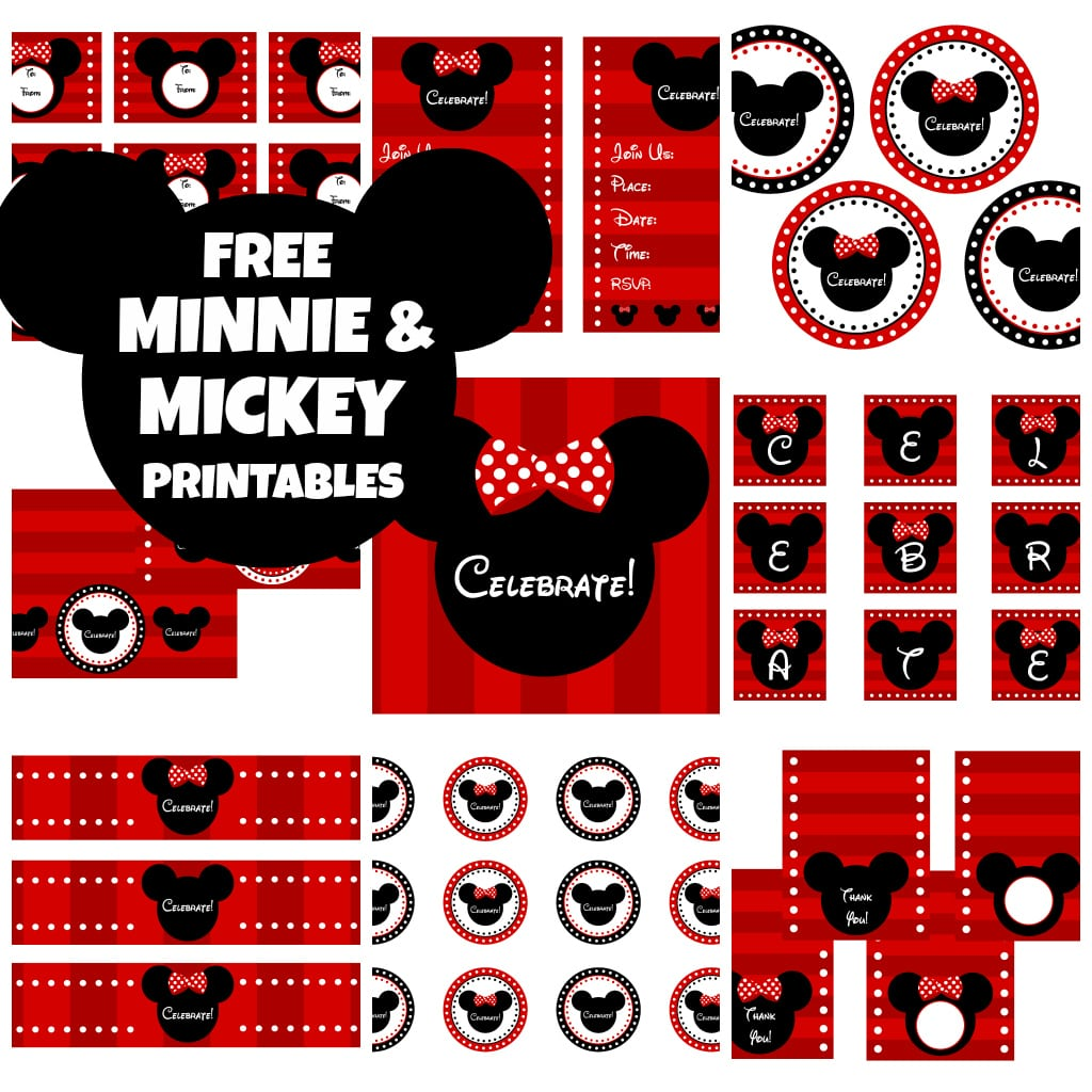 Minnie Mouse Party Invitation Printable