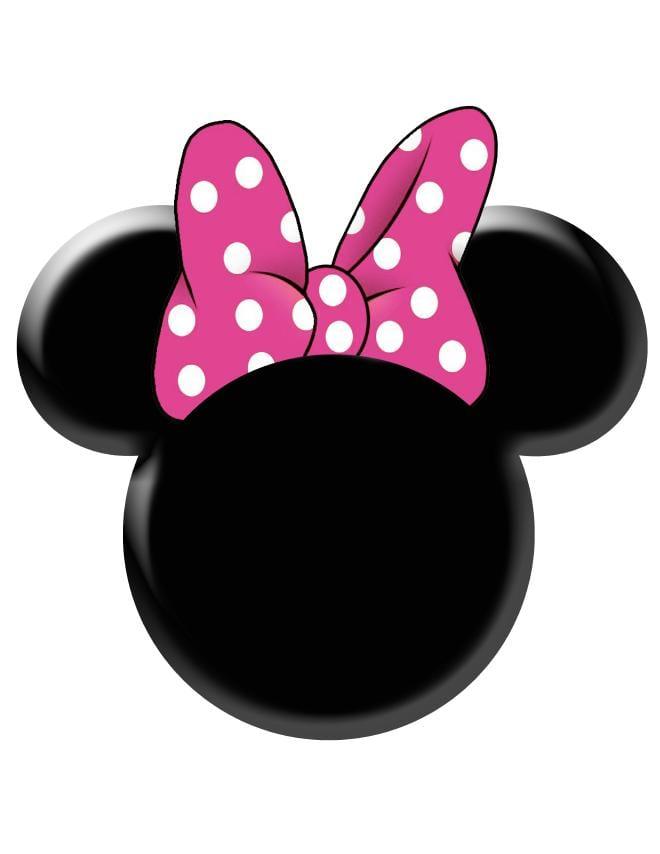 Minnie Mouse Zebra Invitation Template