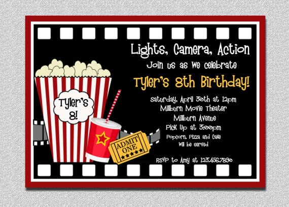 Movie Invitation Free Printable