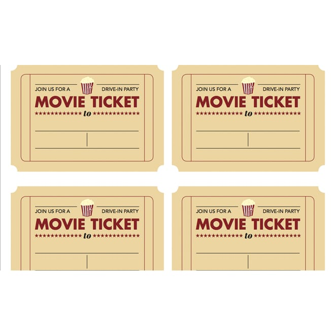 Printable Ticket Template Free Invitation