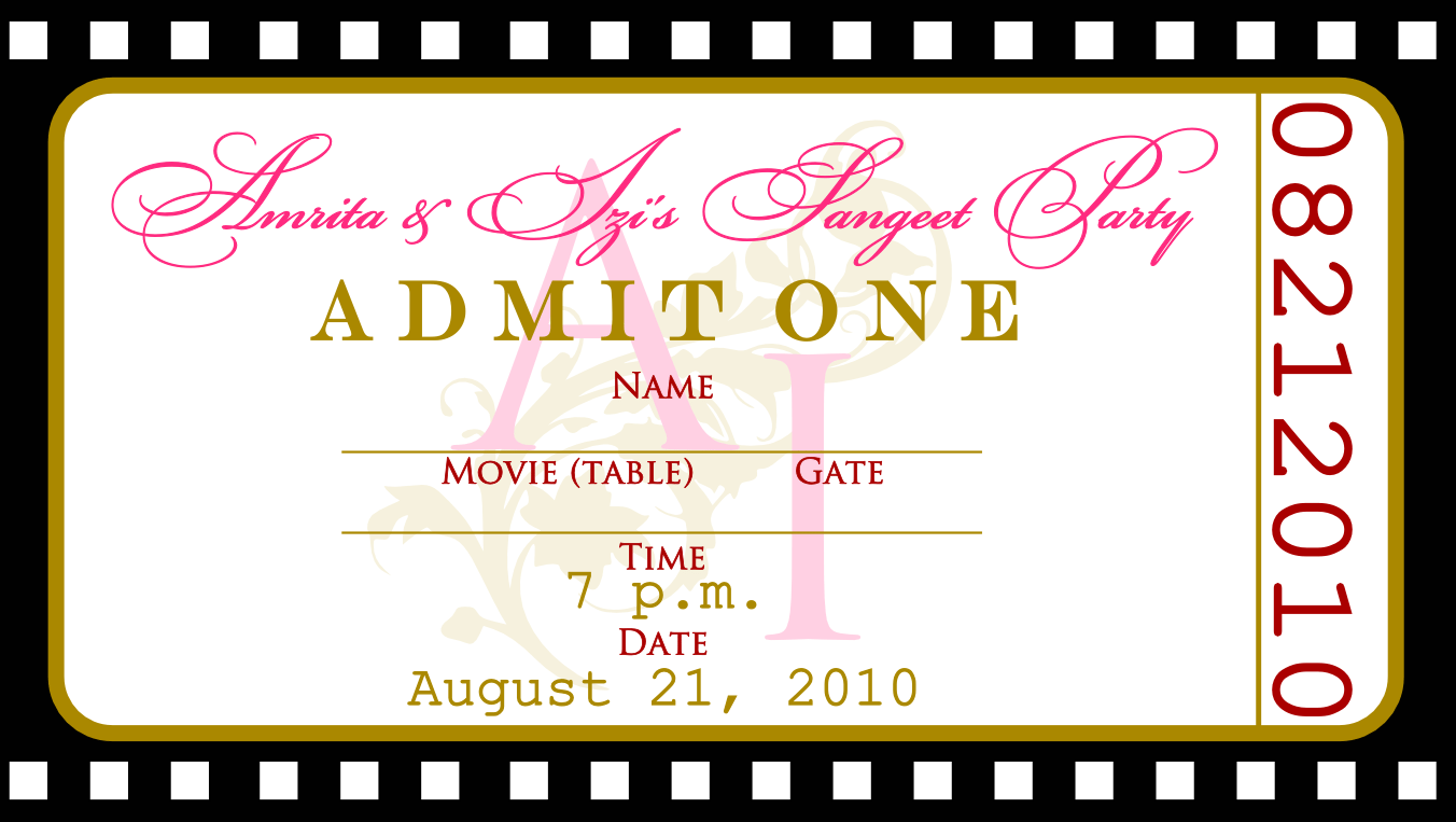 Ticket Party Invitation Template – Create a Ticket Template
