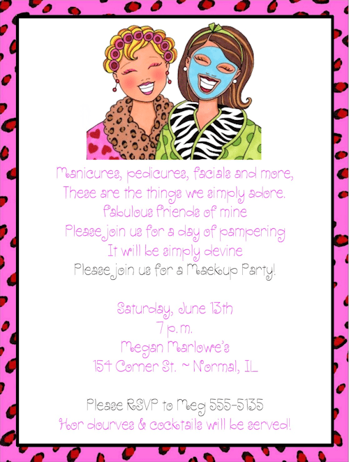 Pamper Party Invitation