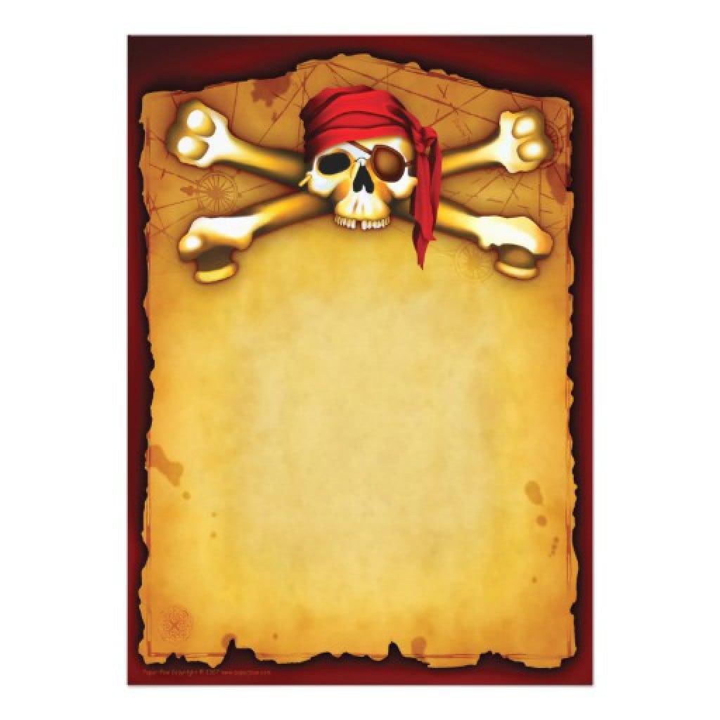 Template Invitation Free Pirate