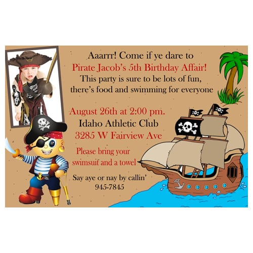 Pirates Party Invitation Wording