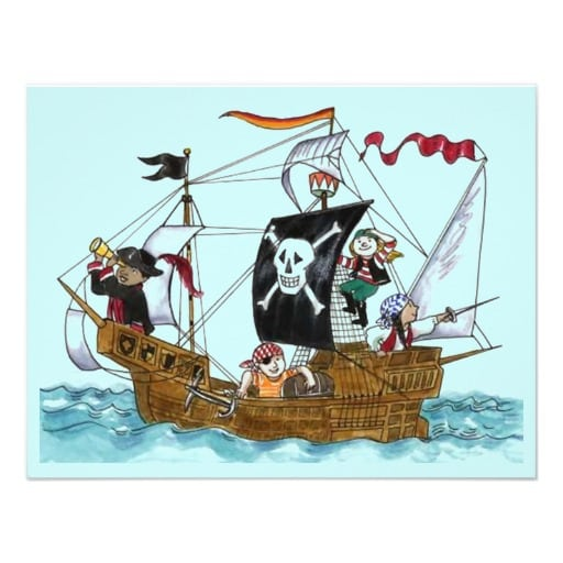 Pirates Theme Invitation