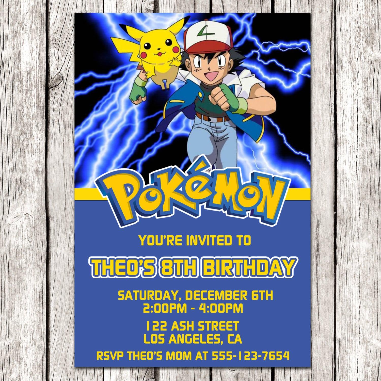 Pokemon Party Invitation