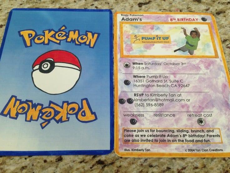 Pokemon Party Invitation Ideas