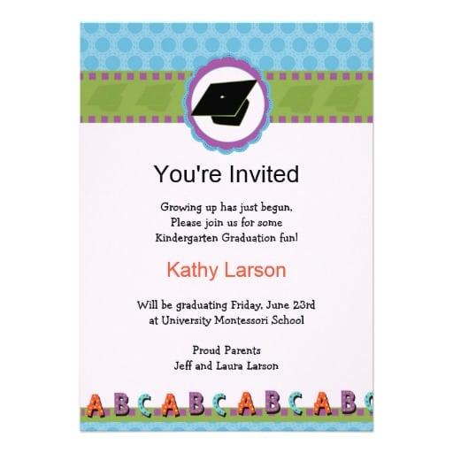Preschool Graduation Invitation Cards