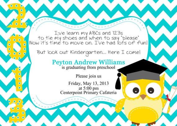 Preschool Graduation Invitation Samples