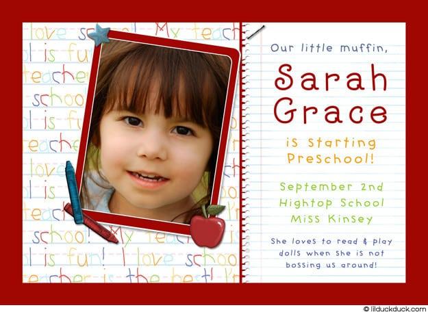 Preschool Graduation Invitation Wording